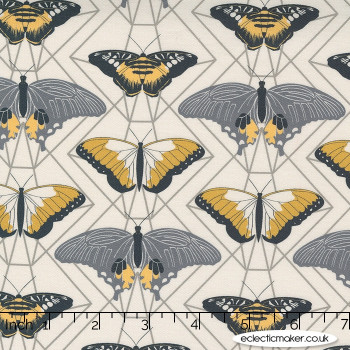 Moda Fabrics - Through the Woods - Butterfly Prisms in Ivory