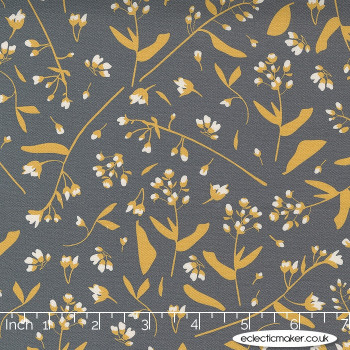 Moda Fabrics - Through the Woods - Foraged in Charcoal