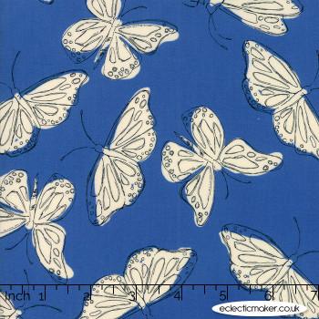 Moda Fabrics - Wild Nectar - Flutter in Dusk