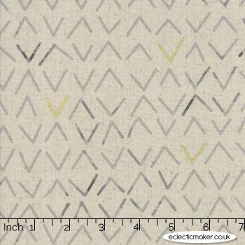 Moda Fabrics - Chill Mochi LINEN - Frost in Charcoal