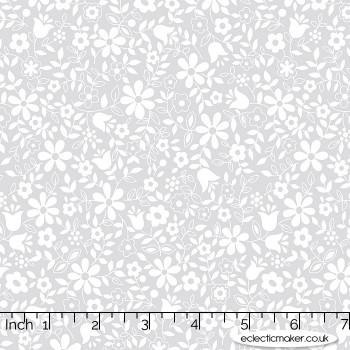 Moda Fabrics - Whispers - Flower Patch in Zen Grey
