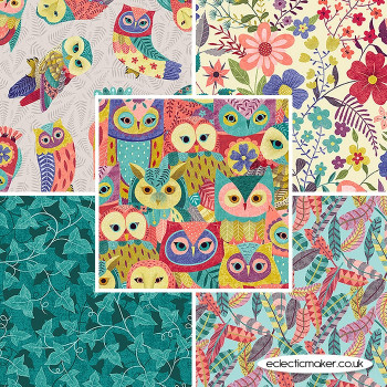 Blank Quilting Fabrics - Owl Prowl by Suzy Taylor - Fabric Bundle in Multi