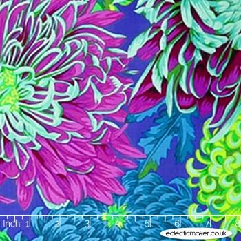 Philip Jacobs Fabric - Japanese Chrysanthemum in Green