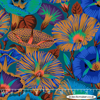 Philip Jacobs Fabric - Varigated Morning Glory in Blue