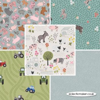 Lewis and Irene - Piggy Tales - Fabric Bundle in Cream
