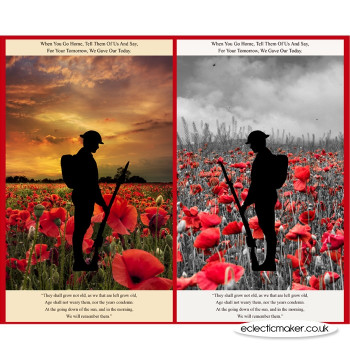 Poppies Remembrance Fabric Panel - Lewis and Irene Fabrics
