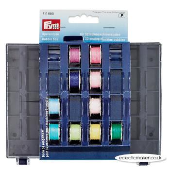 Prym Bobbin Box for 32 Sewing Machine Bobbins