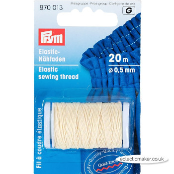 Prym Shirring Elastic Sewing Thread - Natural White