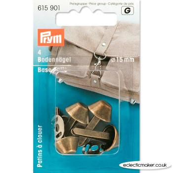 Prym Bag Base Nails - Antique Brass