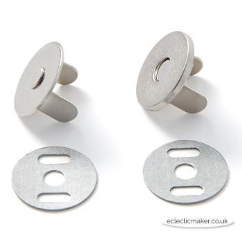 Prym Magnetic Bag Snap in Silver - 19mm