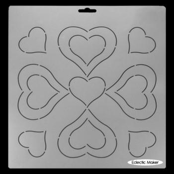 Quilting Stencil - Heart Block