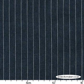 Wide Thin Stripe in Denim