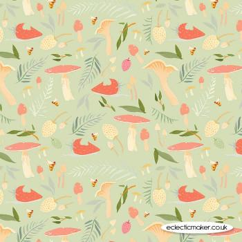 Riley Blake Fabrics - Dream World - Toadstools in Mint