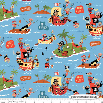 Riley Blake Fabrics - Pirates Life - Pirates Life in Blue
