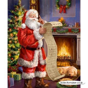 Christmastime is Here Naughty & Nice Panel - Riley Blake Fabrics
