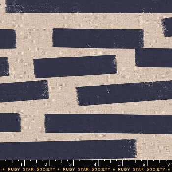Ruby Star Society - Cotton Linen Canvas - Horizon in Denim
