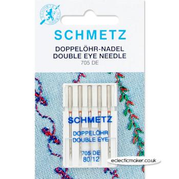 Schmetz Double Eye Needles Size 80/12