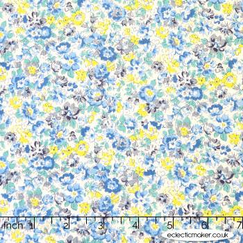 Sevenberry - Cotton Lawn - Bloom Garden in Blue