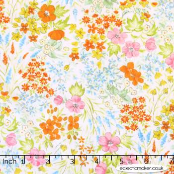 Sevenberry - Cotton Lawn - Bloom Garden in Cream