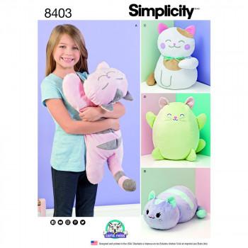 Simplicity Pattern 8403 - Stuffed Kitties