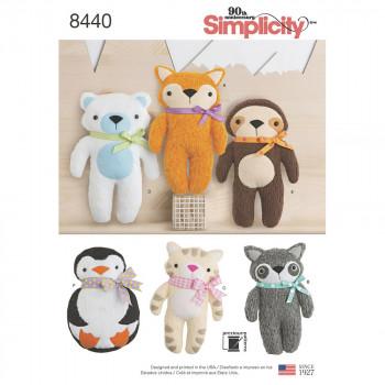 Simplicity Pattern 8440 - Stuffed Animals