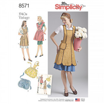 Simplicity Pattern 8571 - Misses' Vintage Aprons