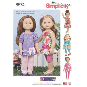 Simplicity Pattern 8574 - 14inch Doll Clothes