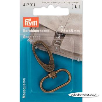 Prym Snap Hook - Antique Brass