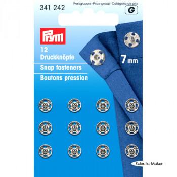 Prym Snap Fasteners / Press Studs (Sew-On) - 7mm