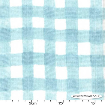 Double Gauze Mini Painted Gingham in Mist