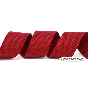 Strap Webbing Heavy Weight in Cranberry - 30mm x 5m