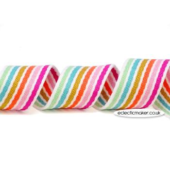 Strap Webbing Heavy Weight in Pastel Stripe - 38mm x 5m