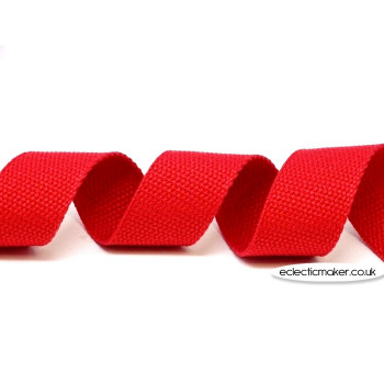 Strap Webbing Heavy Weight in Red - 30mm x 5m