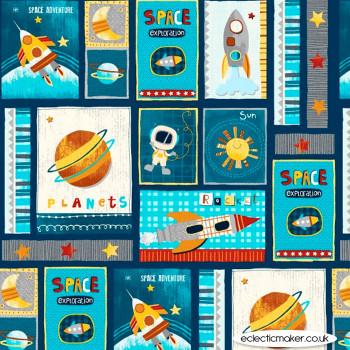 Studio E Fabrics - Space Adventure - Space Adventure Patch in Navy