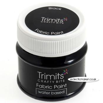 Trimits Fabric Paints in Black - 50ml
