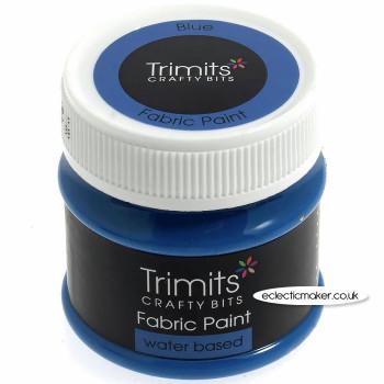 Trimits Fabric Paints in Blue - 50ml