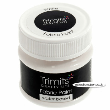 Trimits Fabric Paints in White - 50ml