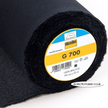 Vlieseline G700 Fusible Woven Interlining in Black - Iron-On