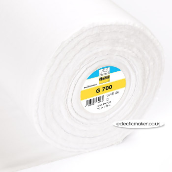 Vlieseline G700 Fusible Woven Interlining in White - Iron-On