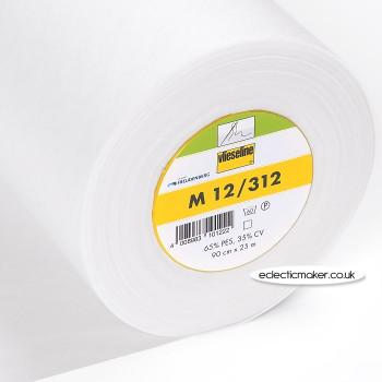 Vlieseline M12 Sew-In Interlining in White - Medium Weight