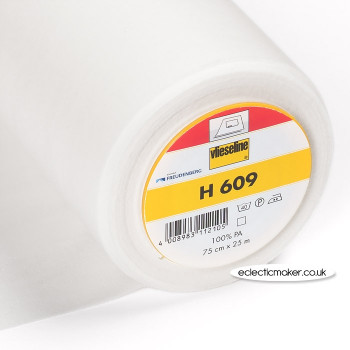 Vlieseline H609 Bi-Elastic Fusible Interlining in White for Knits - Iron-On