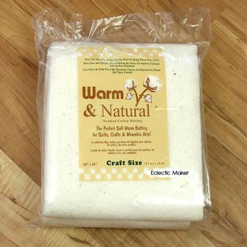 Warm & Natural Cotton Batting - Craft Size 34inch x 45inch