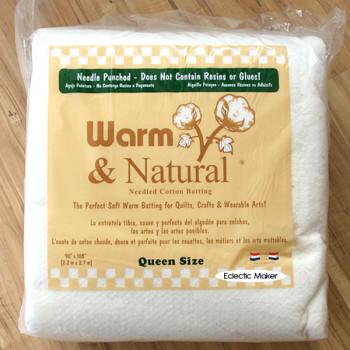 Warm & Natural Cotton Batting - Queen Size 90 x 108 inch