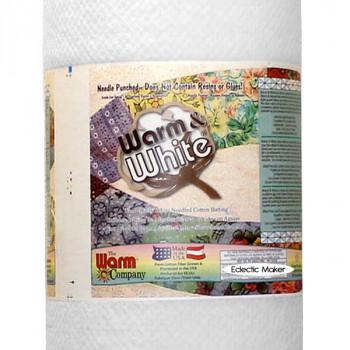 Warm & Natural Warm & White Cotton Batting - 90 inch