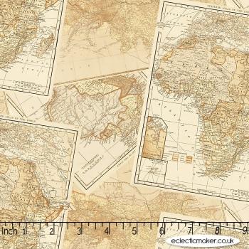 Windham Fabrics - Expedition - Adventure Map in Multi
