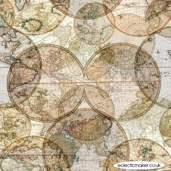 Windham Fabrics - Seven Seas - World Globes in Multi