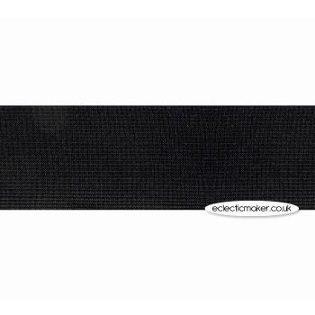 Woven Elastic in Black - 25mm (1 inch)