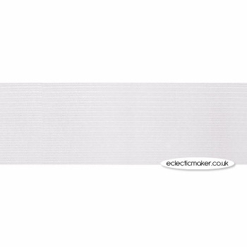 Woven Elastic in White - 25mm (1 inch)