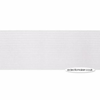 Woven Elastic in White - 30mm