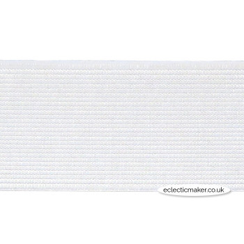 Woven Elastic in White - 38mm (1 1/2 inch)